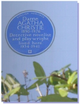 Agatha Christie blue plaque