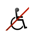 image icon no wheelchair acces